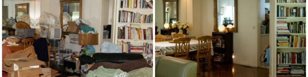 huiskamer voor en na